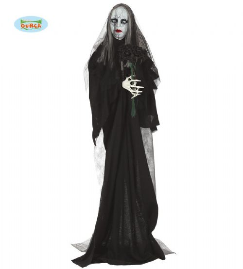 Party Decoration Dead Corpse Widow Bride Halloween with Lights & Sound FX Prop